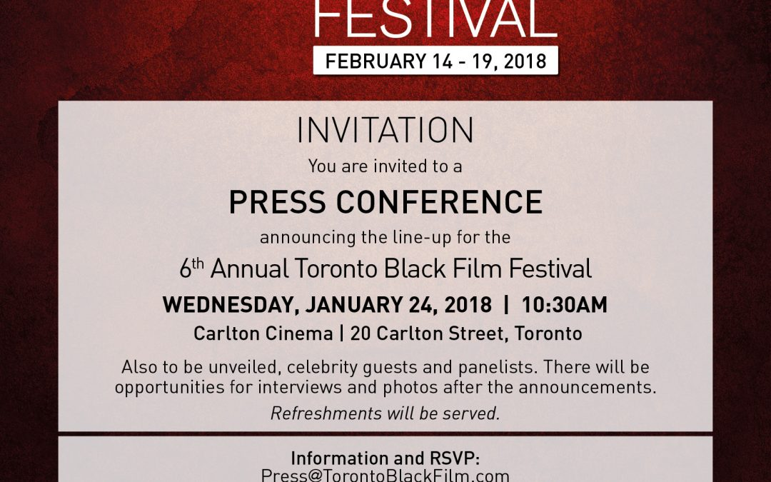 Invitation to #TBFF18 Press Conference – Jan 24